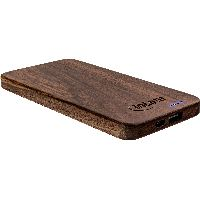 InLine 01478S InLine® woodplate, USB Powerbank 5.000mAh, mit LED Statu