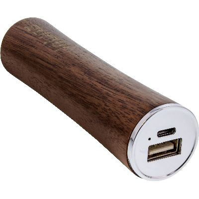 InLine 01479 InLine® woodpower, USB Akku PowerBank 3.000mAh, mit LED A