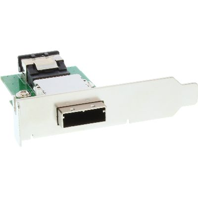InLine 27650A InLine® SAS low profile PCI Slotblech mit Kabel, ext. SF