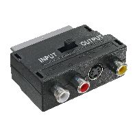 InLine 89953 InLine® Scart Adapter, Scart (in/out) an 3x Cinch Buchse