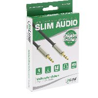 InLine S-99211 InLine® Basic Slim Audio Kabel Klinke 3,5mm ST/ST, Ster