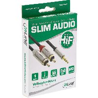 InLine S-99241 InLine® Basic Slim Audio Kabel Klinke 3,5mm ST an 2x Ci
